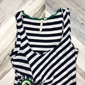 Anthropologie Tops - Anthropologie Little Yellow Button Striped Tank